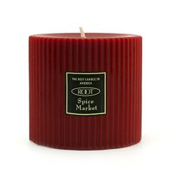 Root Scented Grecian Pillar Candle, 3 by 3-Inch, Spice Market