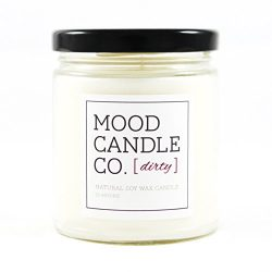 Natural Soy Candle, Dirty Fragrance, 50 Hours, Scent Notes of Violet, Cardamom, Pink Rose, Asian ...