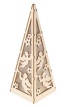 Christmas Flameless LED Angel Candle Table Top Lantern by Clever Creations | Durable Painted Woo ...