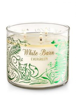 Bath and Body Works White Barn Evergreen 3 Wick 14.5 oz Candle