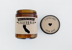 California Scented Candle Missing Home Homesick Gift Moving Gift New Home Gift No Place Like Hom ...