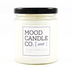 Natural Soy Candle, Still Fragrance, 50 Hours, Scent Notes of Chamomile, English Lavender, Tuber ...