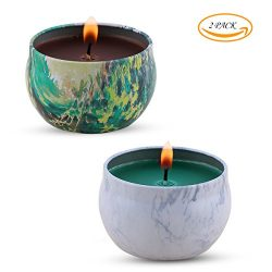 Scented Candles, Candles with Tea Tree, Peppermint Scented, 100% Soy Wax Candle for Stress Relie ...