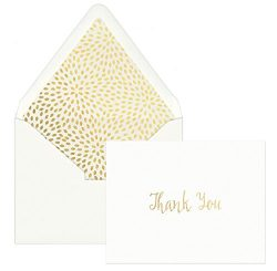 DesignWorks Ink 12-Count Boxed Blank Thank You Note Cards, Organic Petals