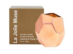 Scented Candle Ylang Ylang Aromatherapy 9.8 Oz Ceramic Jar, 100% Soy Wax, 70 Hours BURN, Gifts f ...