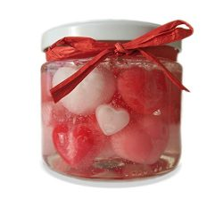 'Melt My Heart' Valentine's Day Strawberries and Cream Scented Gel Candle. Great for Gifts, Wedd ...