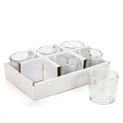 Hosley's Set of 24 Heavy Clear Chunky Glass Tea Light, LED, Votive Candle Holders –  ...