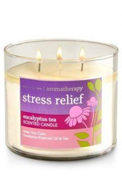 Bath and Body Works 3-wick Limited Edition Candle AROMATHERAPY COLLECTION (Stress Relief – ...