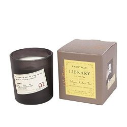 Paddywax Candles Library Collection Edgar Allan Poe Soy Wax Candle, 6.5-Ounce (Cardamom, Absinth ...