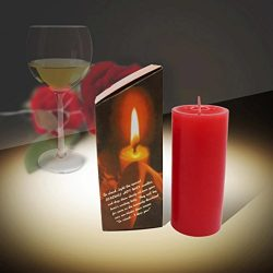 Livoty Low Temperature Candles Drip Wax Adult Women Men Games for Stress Relief and Relaxation (Red)