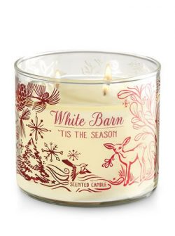 Bath and Body Works White Barn 'Tis The Season Scented 3 Wick Candle 14.5 Ounce