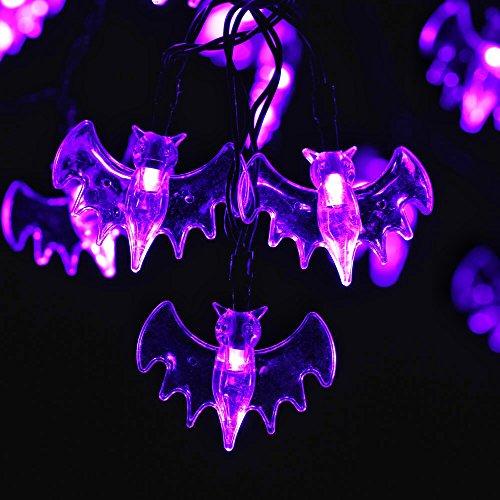 Recesky Purple Bat String Lights 20 Led 7 9ft Battery Operated