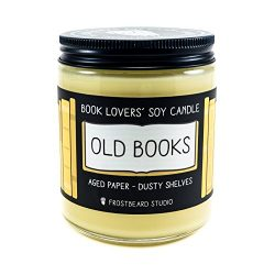 Old Books – Book Lovers' Soy Candle – 8oz Jar