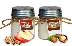 Aira Soy Candles – Organic, Kosher, Vegan in Mason Jar w/ Therapeutic Grade Essential Oils ...