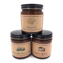 The Oregon Collection Candle Gift Set || 3 – 4oz. or 9oz. Artisan Botanical Soy Wax Candle ...