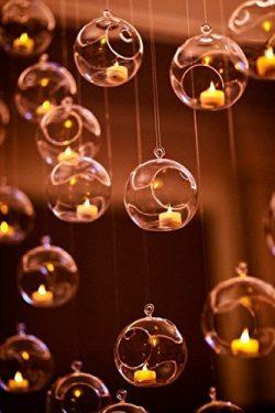 2 3/4″ Hanging Glass Globe Candle Holder Bulk Sale Pack of 12