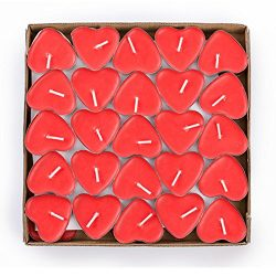 G2PLAY Heart Shaped Smokeless Candles, 50PCs Set Romantic Love Candle Bulk for Wedding, Birthday ...