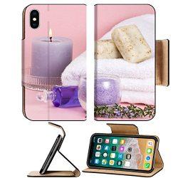 Luxlady Premium Apple iPhone X Flip Pu Leather Wallet Case IMAGE ID Spa set aroma candle salt oi ...
