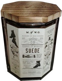 Makers of Wax Goods Rich & Bold #3 Suede Wood-Wick 11.4 Oz. Candle In Glass