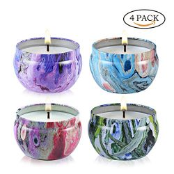 Scented Candle Jasmine,Vanilla,Lavender and Rose Strongly Naturals Aromatherapy Travel Candles i ...