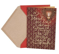 Hallmark Mahogany Valentine's Day Greeting Card for Romantic Partner (Gold Candle)