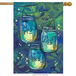 Be A Light Spring House Flag Inspirational Candles 28″ x 40″