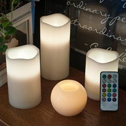 LED Color Changing Flameless Candle Lights-Glamouric Holiday Decoration Light Flickering Real Wa ...