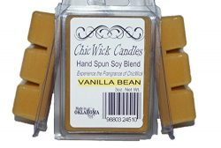 ChicWick Candles 3Pack Vanilla Bean Soy Blend Wax Melts 9oz 18 Wax Cubes Wax Tarts Wax Chunks, 1 ...