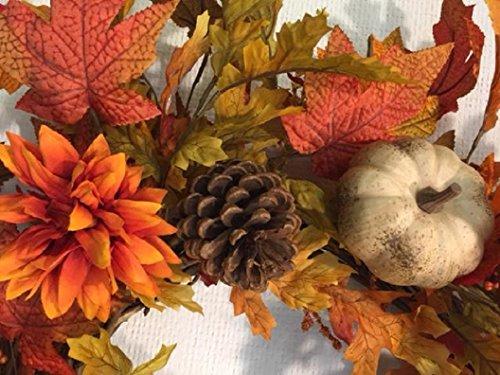 Autumn Treasures Fall Candle Ring Decorative Mini Wreath Interior Autumn Home Decor