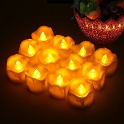 Flameless LED Tea Light Battery Operated Candles Long Lasting Holiday Decoration Lights For Outd ...