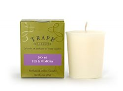 Trapp Signature Home Collection No. 66 Fig & Mimosa Votive Scented Candle, Pack of 4