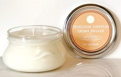 Creme Brulee Scented Soy Candle – Food Candle – Handmade, 6oz