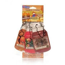 Yankee Candle FALL FAVORITES Paper Car Jar Air Fresheners ; Autumn Wreath, Macintosh, and Spiced ...