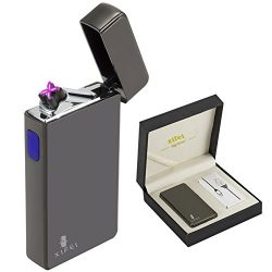 XIFEI USB rechargeable electric plasma arc pipe lighter windproof and butane free also lights/ci ...
