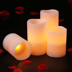 Halloween Led Tea Lights, Battery Powered Flameless Candles for Indoor and Outdoor, Home (4PCS)