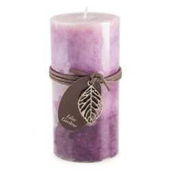 Darice DYN3499 Dynamic Collections Lilac Layered Pillar Candle, 3″ by 6″