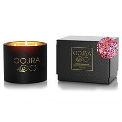 Oojra Scented Candles Japanese Cherry Blossom – Made with Essential Oils & Soy Wax &#8 ...