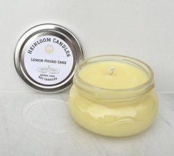 Lemon Pound Cake Soy Candle – Lemon Candle – Handmade Glass Jar, 3.3oz