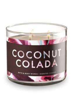 Bath and Body Works White Barn 3 Wick Scented Candle Coconut Colada 14.5 Ounce