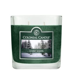 Colonial Candle 3-1/2-Ounce Scented Oval Jar Candle, Winter Woods