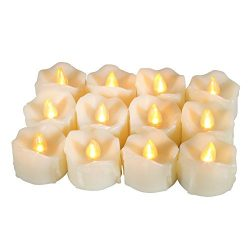 Flameless Candles [12Pcs], TINGAU Flickering Votive Candles Light with Timers, 6 Hours on and 18 ...