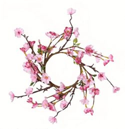 Worth Imports Cherry Blossom Candle Ring, 2 Piece