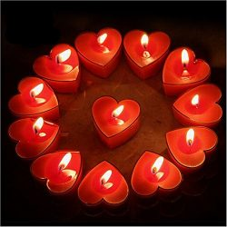 Celestte (TM) Scented Candles, 12 Pcs Sweet Romantic Love Heart Shaped Floating Candle for Home  ...