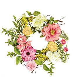 Sullivans 8″ Mixed Flowers and Berries Wreath