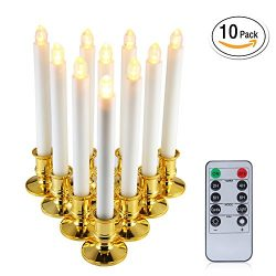 niceEshop(TM) Window Candles, 10PCS Led Electric Candle Lights with Holders, Electric Window Can ...