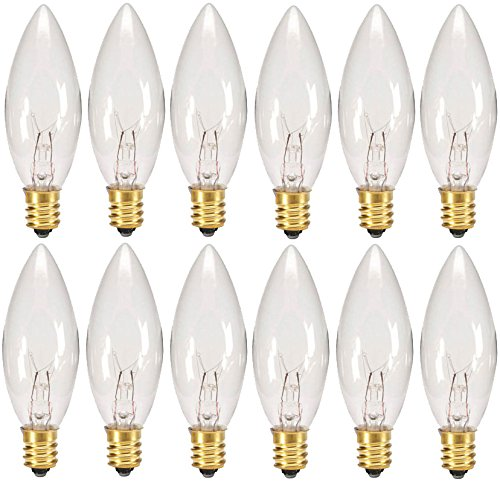Creative Hobbies® Replacement Light Bulbs for Electric Candle Lamps & Chandeliers – 7  ...