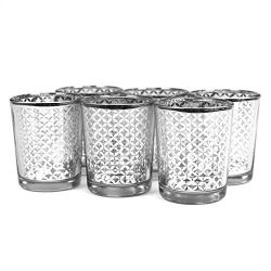 Koyal Wholesale 424477 Lattice Votive Cup, 2.5″, Silver