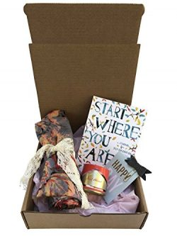 "Gift Box-Floral Scarf, Scented Candle,""Start Where You Are"" Journal-Meera Lee Patel  ..."