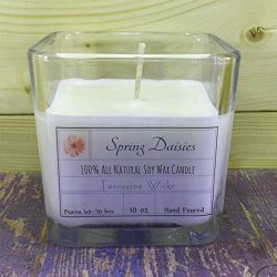 Spring Daisies 10oz Hand Poured 100% Natural and Eco Friendly Soy Wax Candle