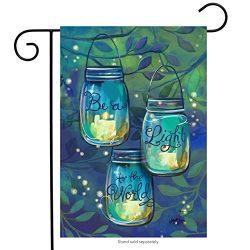 Be A Light Spring Garden Flag Inspirational Candles 12.5″ x 18″